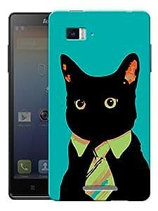 "Hipster Cat - Green Printed Designer Mobile Back Cover For ""Lenovo Vibe Z K910"" By Humor Gang (3D, Matte Finish, Premium Quality, Protective Snap On Slim Hard Phone Case, Multi Color)"