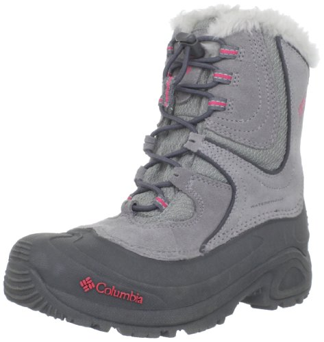 Columbia Youth Snowpack Girls Snow Boot (Little Kid/Big Kid),Light Grey/Afterglow,3 M US Little Kid