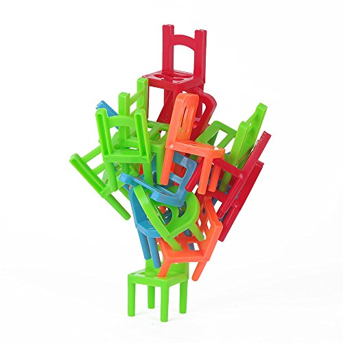 USATDD Balance Chairs Game Plastic Stacking Desktop Intelligence Multiplayer Toys Birthday Gift (Creative Projects Table compare prices)