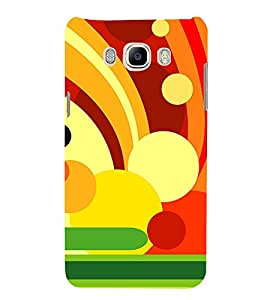 Animation Colourful Circle Pattern 3D Hard Polycarbonate Designer Back Case Cover for Samsung Galaxy On8