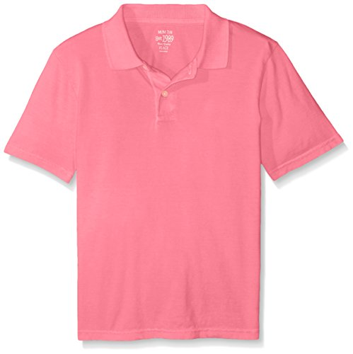 The Children's Place Boys Solid Polo Shirt, Pink Punch, Large/10/12