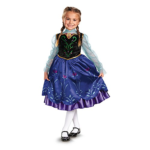Disguise Girls Disney Frozen Anna Deluxe Costume, One Color, X-Small/3T-4T
