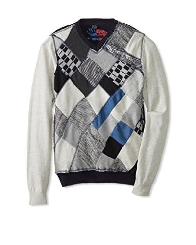 Desigual Men's Argyle Sweater