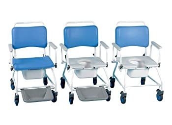 Homecraft Atlantic Bariatric Commode and Shower Chair with Footrests 20 inch from Patterson Medical