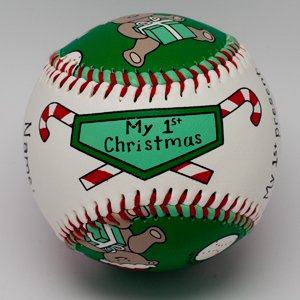 Child to Cherish Unforgettaballs by Emily Wolfson Child Baby's First My 1st Christmas Baseball - 1