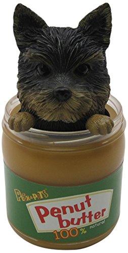 Idea Max Peek-A-Pet Bobble Heads Peanut Butter Yorkshire Terrier (Jar) - 1