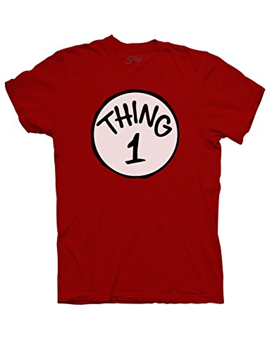 Adult Thing 1 T-shirt - X-Large - Red