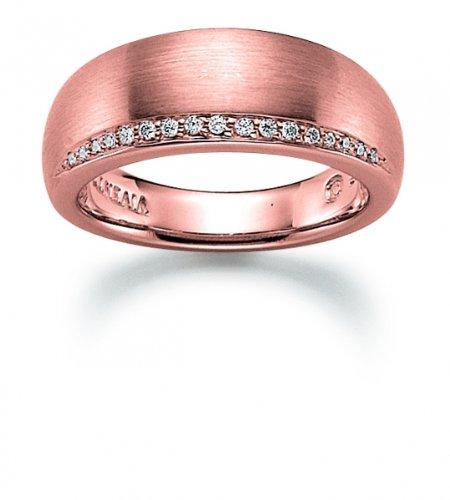 VIVENTY Damenring Sterlingsilber 925/000 Rosé goldplattiert 770911