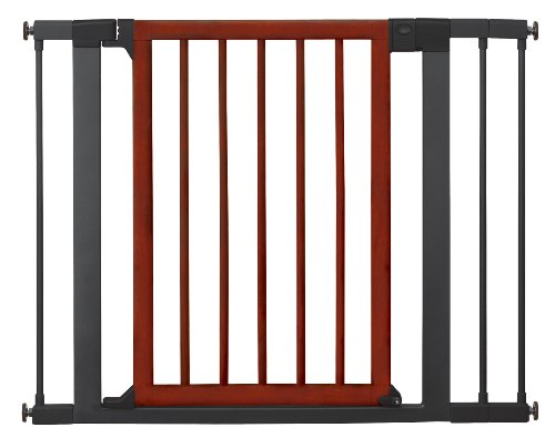 Munchkin Wood and Steel Designer Gate, Dark Wood/Silver