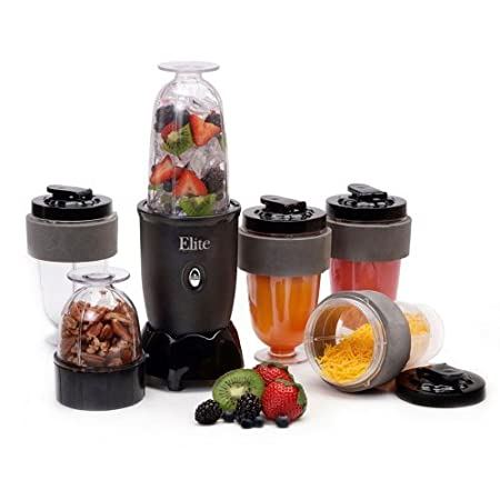 MaxiMatic EPB-1800 Elite Cuisine 300-Watt 17-Piece Personal Drink Blender, Black $16.99