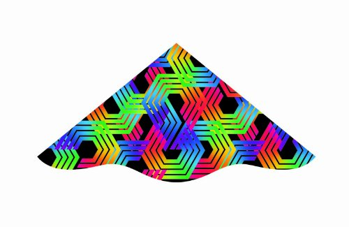 Dlx Delta 42-inches Nylon Delux Delta Kite: Hex