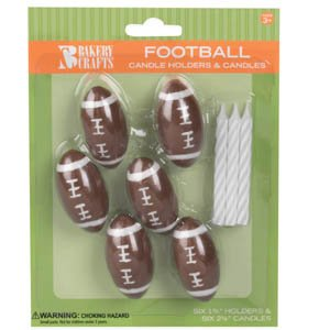 Oasis Supply Wax Football Holder with Birthday Candles