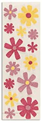 Martha Stewart Crafts Stickers Glitter Zinnia Pink/Yellow By The Package