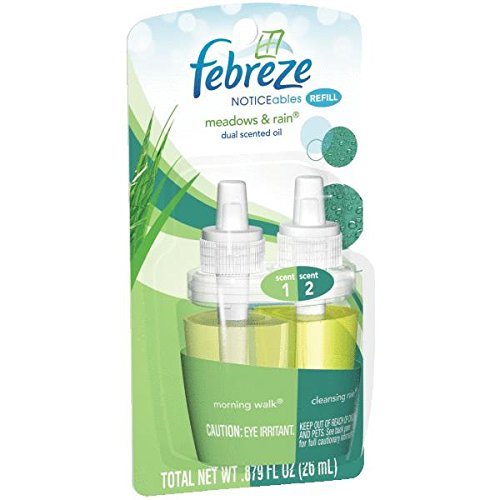 Febreze Noticeables Meadows & Rain Air Freshener Refill (0.879 Fl Oz)