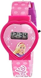 Mattel Barbie Kid's BAR004T Digital Display Quartz Pink Watch Set