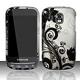 Vine Design Protective Hard Case for Sprint/Boost Mobile Samsung Transform Ultra M930 - Silver/Black ~ CB