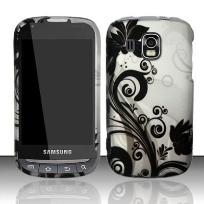 Vine Design Protective Hard Case for Sprint/Boost Mobile Samsung Transform Ultra M930 - Silver/Black (Samsung Transform Ultra compare prices)