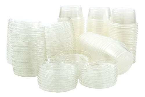 2 oz Jello Shot Plastic Tumbler Cups with Lids Translucent/Clear, 200 Pcs (2 Oz Plastic Cups With Lids compare prices)