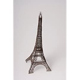 12 inch Laser Cut Paper Eiffel Tower - Bronze