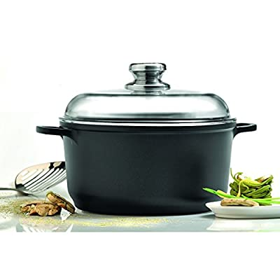 "Eurocast/Berghoff Professional Cookware 10"" Stock Pot with Glass Lid"