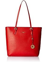 Da Milano Women's Handbag (Coral Red) (Lb-2161Coral Redsaffiano)