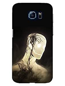 The Glowing Skull - Gothic - Designer Printed Hard Back Shell Case Cover for Samsung S6 Superior Matte Finish Samsung S6 Cover Case