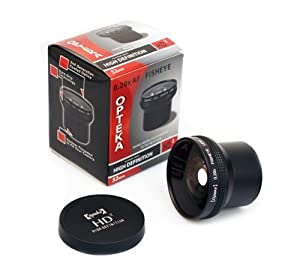 Opteka HD2 0.20X Professional Super AF Fisheye Lens for Nikon N90s, N80, N75, N65, N55, F5, & F6, Film SLR Camera