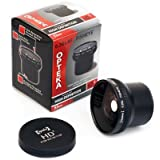Opteka HD2 0.20X Professional Super AF Fisheye Lens For Canon PowerShot A720 A710 A700 Digital Camera