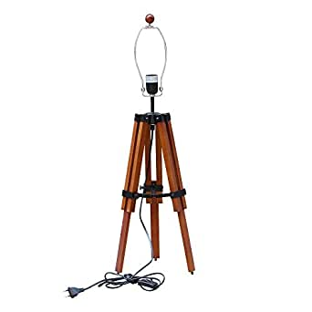 lnc ym73364to nature wood tripod table lamp stand base only. Black Bedroom Furniture Sets. Home Design Ideas