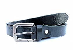 Tops 25mm Black Leather Belt