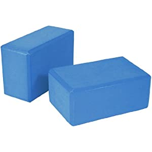 Yoga Block 2 pack 4 in. x 6 in. x 9 in. Larger Size High Quality 3 colors by Bean Products