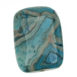 Turquoise Blue Crazy Lace Agate (D) Puff Rectangle Beads 18x25mm (2)