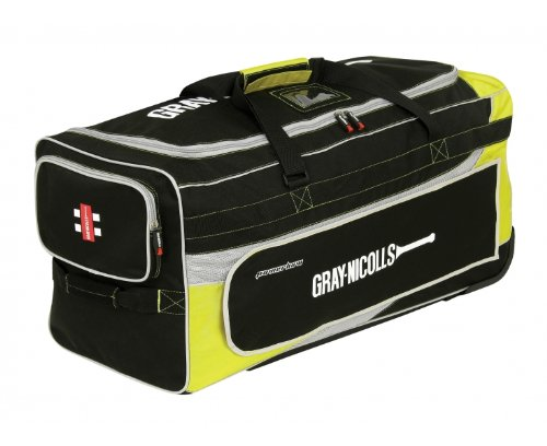 GRAY-NICOLLS Powerbow Cricket Bag, Black/Yellow