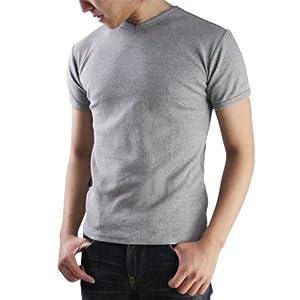 【クリックで詳細表示】(アヴィレックス)AVIREX デイリーVネックリブTシャツ 半袖 : 服&ファッション小物通販 | Amazon.co.jp
