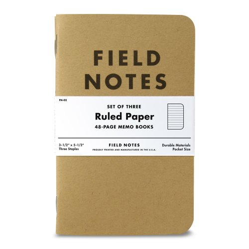 Field Notes Kraft Ruled 3-Pack