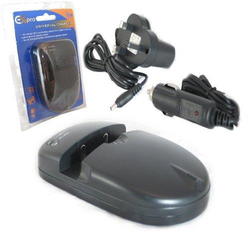 Ex-Pro Uni-Charge Nikon Digital Camera battery charger for EN-EL1, ENEL1, EN-EL2, ENEL2, EN-EL3, ENEL3, EN-EL3e, ENEL3e, EN-EL5, ENEL5, EN-EL8, ENEL8, EN-EL9, ENEL9, EN-EL10, ENEL10, EN-EL11, ENEL11, EN-EL12, ENEL12, EN-EL19, ENEL19, EN-EL20, ENEL20, AA,