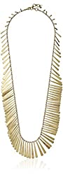 """Lucky Brand Gold Feather Necklace, 32"""" + 1.5"""" Extender"""