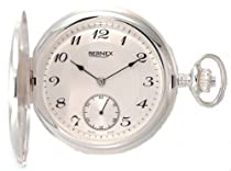 Bernex Sterling Silver (.925) Swiss Made Pocket Watch with 17 Jewel Movement