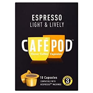 Cafe Pod Nespresso Compatible Light (Pack of 4, Total 40 Pods)