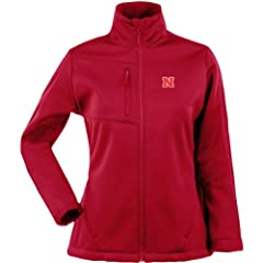 Antigua Ladies Nebraska Cornhuskers Traverse Fleece Back Full-Zip Jacket by Antigua