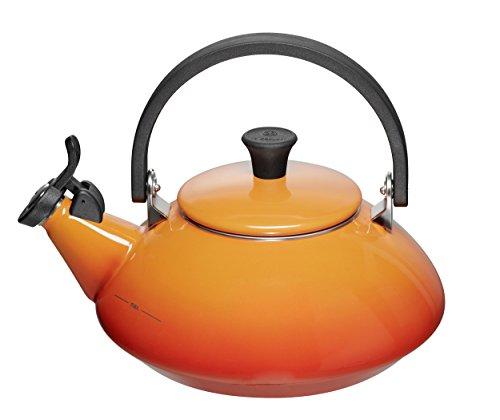 Enamel On Steel 1.6 Qt. Zen Tea Kettle Color: Flame
