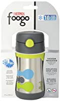 THERMOS FOOGO Vacuum Insulated Stainless Steel 10-Ounce Straw Bottle from Thermos