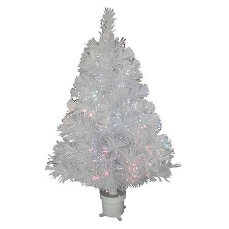 Make A Change This Christmas And Use The Holiday Time Pre-Lit 2.5' Fiber Optic Artificial Christmas Tree, Concord White