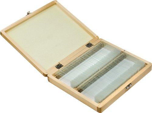 Barska 100-Piece Prepared Microscope Slides With Wooden Case