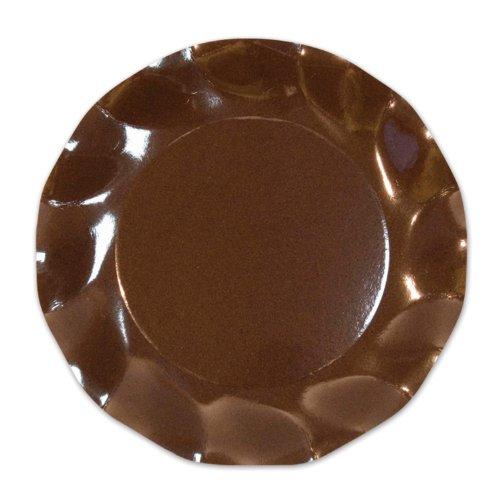 Brown Large Plates (10/Pkg)