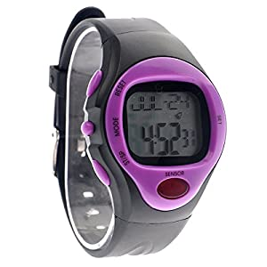 Foxnovo 06221 Waterproof Unisex Pulse Heart Rate Monitor Calorie Counter Sports Digital Watch with Date /Alarm /Stopwatch