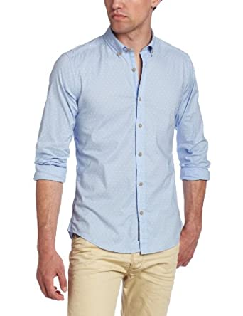 Diesel Men's Stephany S Button-Down Shirt, Light/Blue, X