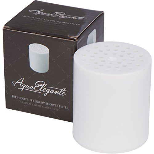Aqua Elegante High Output Luxury Shower Filter - Best Chlorine Removing Filtration System & Cartridge - Replacement Cartridge (Aquasource Replacement Cartridge compare prices)