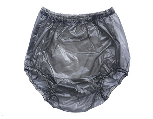 Haian Adult Incontinence Pull-on Plastic Pants Color Transparent Black 3 Pack (X-Large) (Adult Diapers And Plastic Pants compare prices)