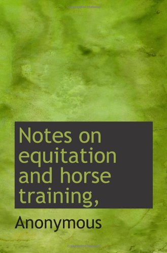 Notes on equitation and horse training, PDF